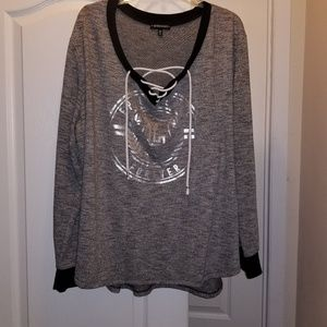 3x top, gray and black